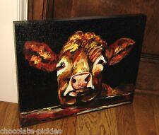 Cow Canvas Wall Picture*Farmhouse Primitive/French Country Farmhouse Barn Decor