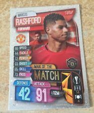 Match Attax 2019/20 Marcus Rashford Man of the Match card New Manchester United