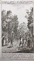 Aix en Provence en 1790 Pendaison de Pascalis Guiraman Révolution Française