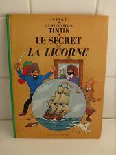 BD TINTIN - Le secret de la licorne - Imprimé en 1979