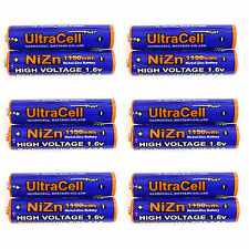 12 x 1150mWh AAA NiZn 1.6V Volt Rechargeable Battery 3A LR03 HR03 Ultracell Blue