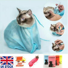 More details for mesh pet cat grooming restraint bag for bath washing nails cutting cleaning bag