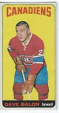 1964-65 Topps DAVE BALON Card MONTREAL CANADIENS