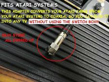 ATARI 2600 5200 7800 TV RF Video Television Cable Connector Switch Box Coaxial