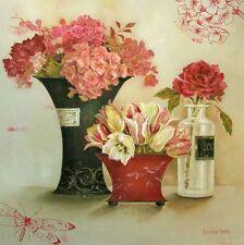 Kathryn White: Luxury Bouquets Fertig-Bild 30x30 Wandbild Landhausstil