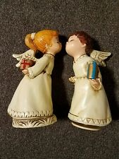 "Vintage Kissing Christmas Angels Hand Made My Japan 9"" NO RESERVE"