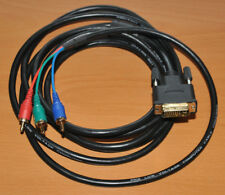 10FT Full HD 1080p DVI-I to 3RCA RGB Component Video Cable Gold Plated