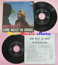 LP 45 7'' NICO FIDENCO Come nasce un amore Exodus italy RCA PM45 3000 cd mc dvd*
