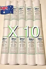 "10 MICRON WATER FILTER REPLACEMENT CARTRIDGE X 10 SEDIMENT POLY SPUN 10""X 2.5"" ✅"