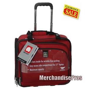 DELSEY HELIUM ULTIMATE CARRY-ON BURGUNDY LAPTOP TRAVEL BAG BUSINESS CASE  NEW!