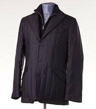 NWT $6950 KITON Quilted Silk Outer Jacket with Cashmere Lining 50/40 (M) Blazer