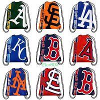 MLB Baseball Team Drawstring backpack / Gym bag