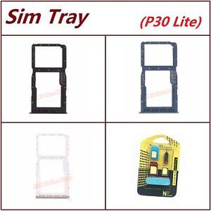 Black Blue White OEM Nano Sim Card SD Card Tray Slot Holder For Huawei P30 Lite