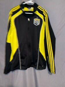 Adidas Columbus Crew Jacket Black Yellow Size Medium MLS SOCCER