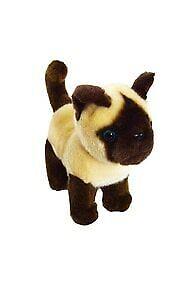 8 Inch Siamese Plush Kitten Lancelot- Stuffed Animal Cat