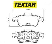 2348202 Kit pastiglie freno, Freno a disco (TEXTAR)