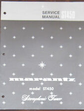 Marantz ST450 tuner service repair workshop manual (original copy)
