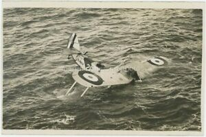 Blackburn Ripon S1052 In The Drink HMS Glorious Real Photo Postcard, BZ889