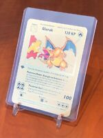 ☆☆☆ DEUTSCH Glurak 1st Edition Metall Gold Pokemon Karte ☆☆☆