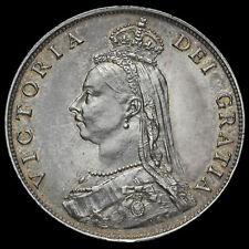 1887 Queen Victoria Jubilee Head Silver Florin, GEF / AUNC