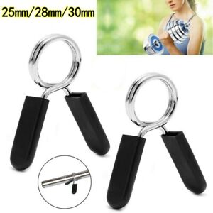25/28/30mm Gym Barbell Weight Bar Dumbbell Lock Clamp Spring Clip Collar Fitness