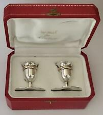 Vintage Pair of Cartier, Paris Sterling Silver 'Trinity' Candlesticks