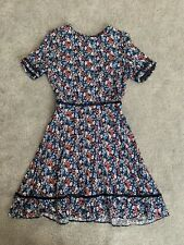 Oasis Ditsy Print Floral Skater Dress size 12 BNWT
