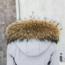 Natur Waschbär Kragen Pelzkragen Pelz Fell Echtpelz Raccoon f Jacke Mantel