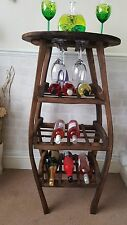 VINO Rack rovere massello unico MINI BAR RUSTICO Whisky Barrel DOGA su misura
