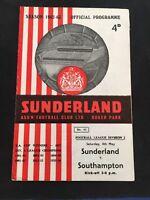 Sunderland V Southampton 1962/63