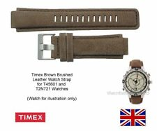 Genuine Timex Leather Watch Strap Band for T45601, T2N721 E-tide Compass Watches