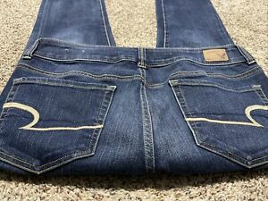 AE AMERICAN EAGLE OUTFITTERS ARTIST CROP SUPER STRETCH WOMENS JEANS SIZE 10