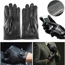 Winter Men Leather Gloves Motorcycle Full Finger Touch Screen Driving Warm US