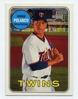 2018 Topps Heritage #207 JORGE POLANCO Minnesota Twins - Base Card 1969 STYLE