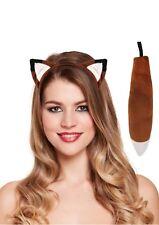 Fox Fancy Dress Ears & Tail Brown Dressing Up Costume Fantastic Mr Fox NEW