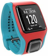 NEW  TomTom Runner Cardio GPS Watch and Heart Rate Monitor Turquoise/Red