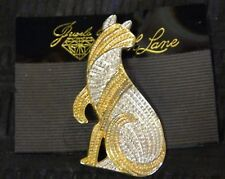 JEWELS BY PARK LANE Vintage! NWT Incredible Silver & Gold Cat Brooch Pin