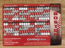 2014 Boston Red Sox Baseball Magnetic Schedule