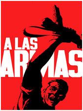 "20x30""Decoration CANVAS.Interior political art.To the Guns.A las armas.6381"