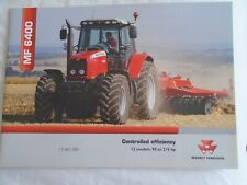 Massey Ferguson MF6400 Tractors range brochure Feb 2004