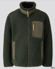 NEW Uniqlo JW Anderson Windproof Fleece Jacket Mens MEDIUM Green Pile Zipper