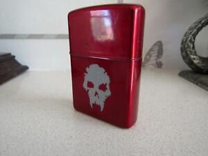 Rare ZIPPO Lighter. Vampire The Requiem Roleplaying Game Skull White Wolf New