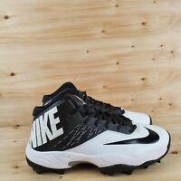 NIKE ZOOM CODE ELITE 3/4 SHARK FOOTBALL CLEATS WHITE/BLACK [603370 100] SZ.11