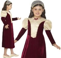 Childrens Girls Fancy Dress Tudor Damsel Girl Costume Childs Outfit by Smiffys