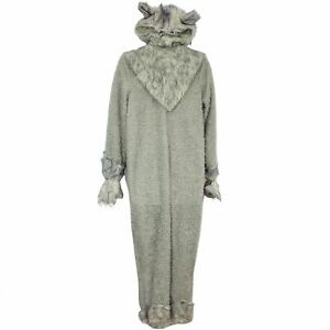 Halloween Costumes Adult Wolf SZ XL Gray Jumpsuit Headpiece Covers Lot 3