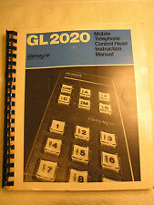 Glenayre Gl2020 Mobile Telephone Control head Instruction Manual Autotel