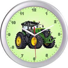 Kinderwanduhr Wanduhr Kinderuhr Uhr Traktor grün Trecker Landwirtschaft