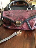 NEW Aimee Kestenberg Unused Python Style Leather Shoulder Bag / Detachable Strap