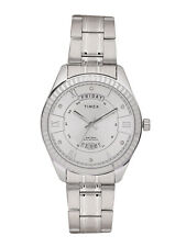 Timex USA Quartz Day Date President Model 41mm Designer Silver Dial Men's Watch