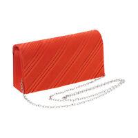 Women's Wallet Orange Satin Purse Evening Handbag Girls Clutch